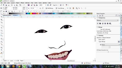 tutorial membuat foto menjadi kartun dengan coreldraw x4 tutorial corel draw x4 membuat kartun sarangnyatutorial
