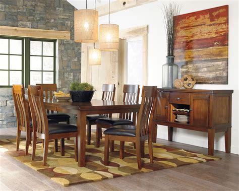 ralene medium brown dining room server furniture
