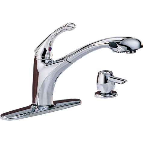 pull out kitchen faucets shop delta debonair chrome pull out kitchen faucet at