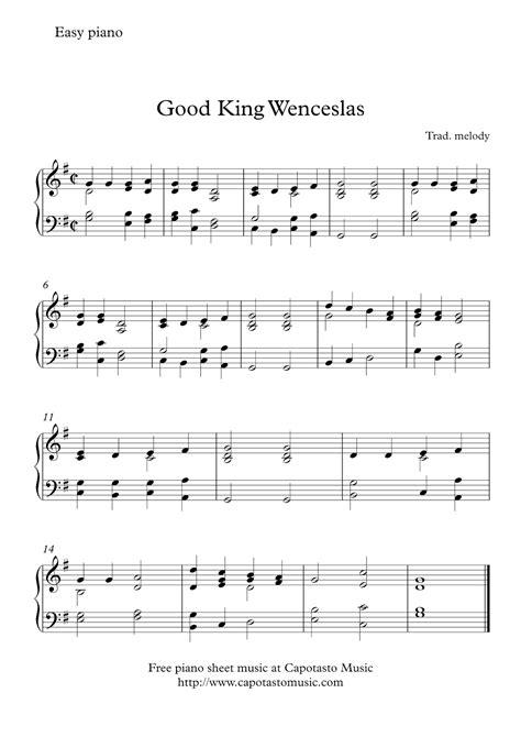 good king wenceslas free easy piano sheet music for free easy christmas piano sheet music good king wenceslas