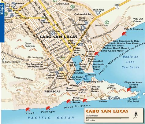 map of united states and cabo san lucas mexico cabo san lucas tourist map