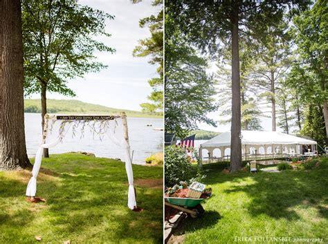 dunbarton backyard wedding at gorham pond erika