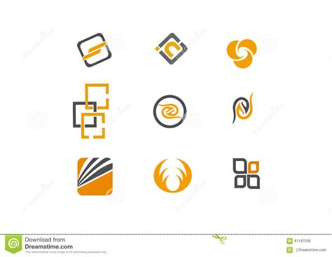 logo design vector format 9 logo and design elements stock vector image 61187036