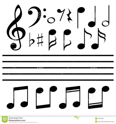 eps format is vector icons set music note royalty free stock photography