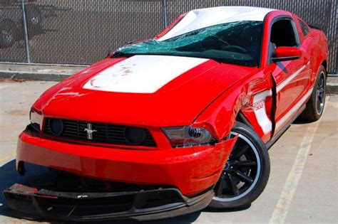 crashed mustang for sale found on ebay crashed 2012 ford mustang 302