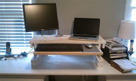 build your own sit stand desk 21 diy standing or stand up desk ideas guide patterns