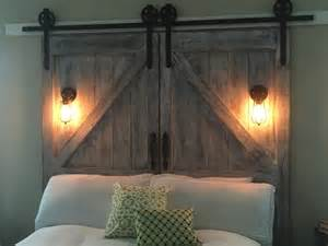 Diy Barn Board Headboard Cheaper And Better Diy Barn Door Headboard And Faux Barn