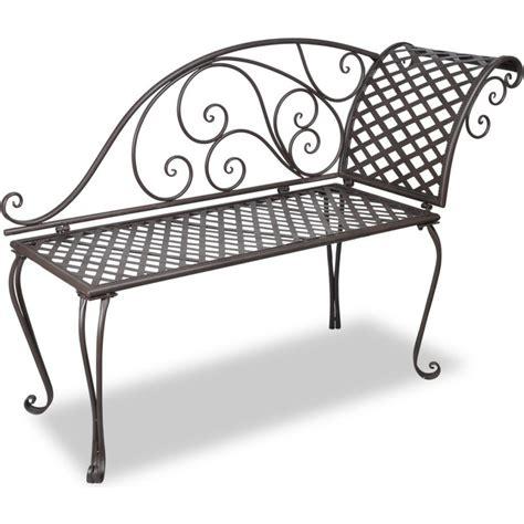 outdoor garden benches metal scroll outdoor iron metal garden bench lounge 128cm buy