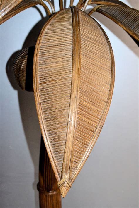 1970s Large Palm Tree Floor Lamp in Bamboo at 1stdibs