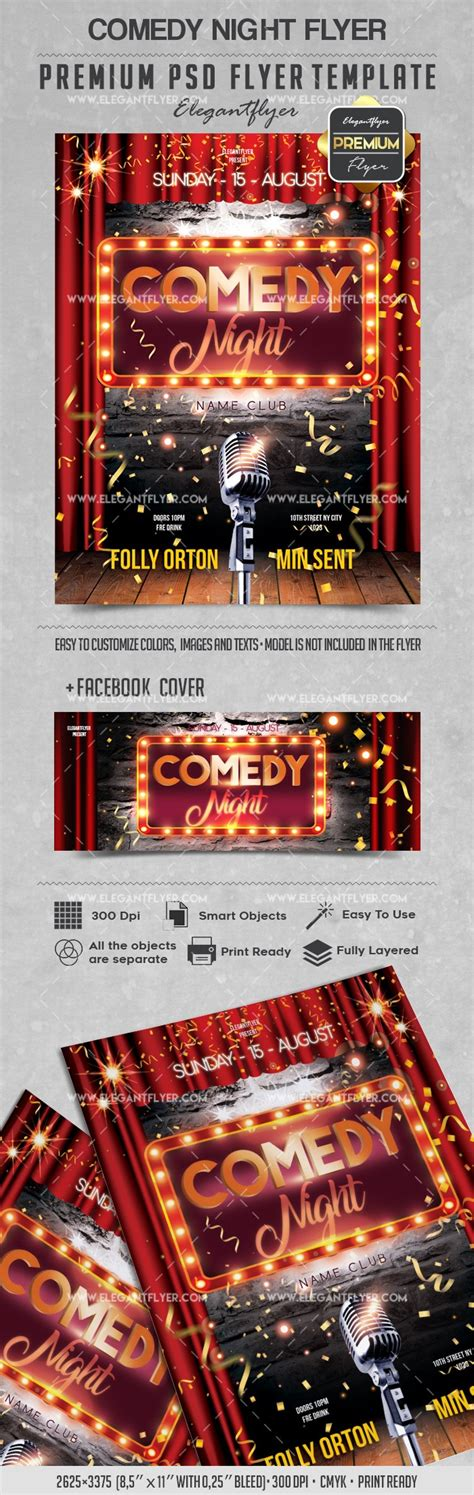 Comedy Club Flyer Templates comedy flyer psd template by elegantflyer