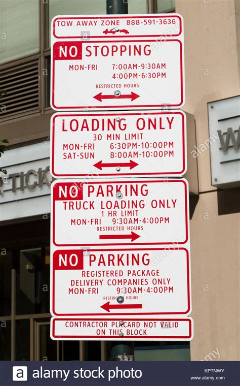 Beautiful Nashville Parking Garage #6: Multiple-no-parking-signs-on-a-post-in-philadelphia-pennsylvania-united-KPTNWY.jpg