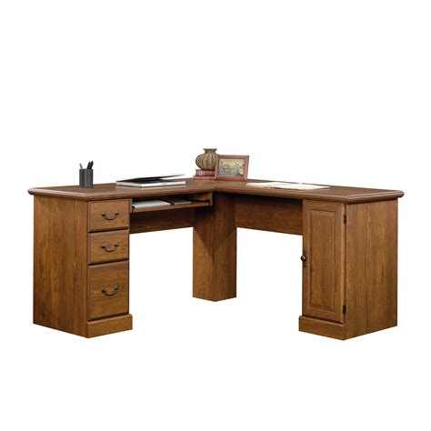 sauder orchard computer desk with hutch in milled cherry sauder orchard large computer desk w hutch orchard