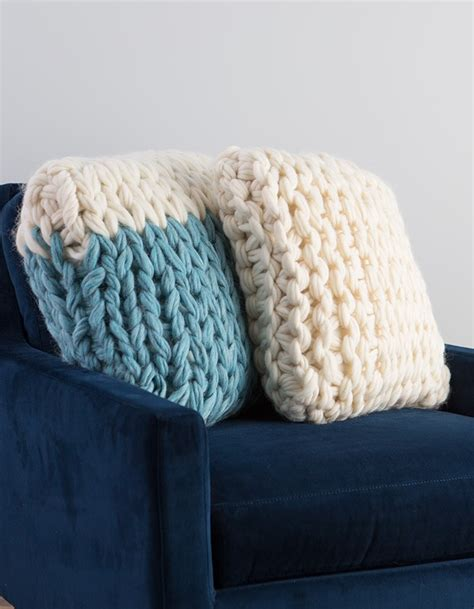 arm knit arm knit throw pillow video class flax twine