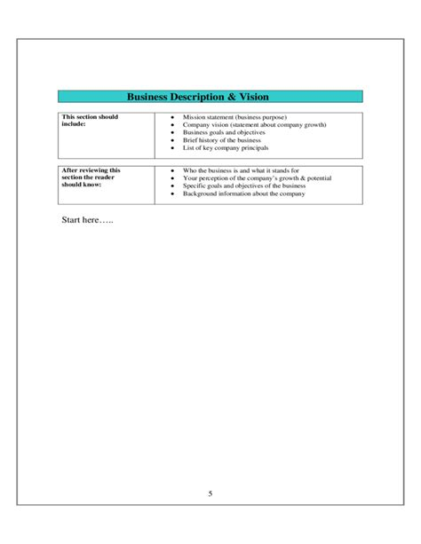 sle business plan template free