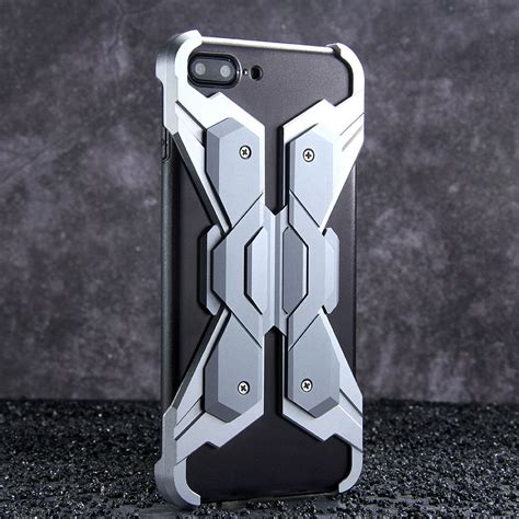 Iphone 6 7 8 Future Armor Robot Shockproof Holster luphie neo armor wings shockproof tpu metal cover for apple i armor king