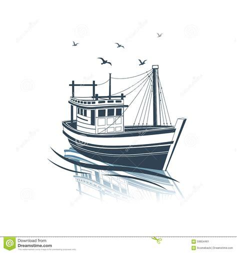old boat vector fishing boat stock vector illustration of industrial