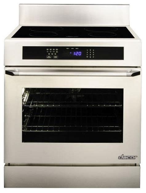 electric induction slide in range dacor renaissance 30 quot slide in induction range stainless steel rr30nifs gas ranges and