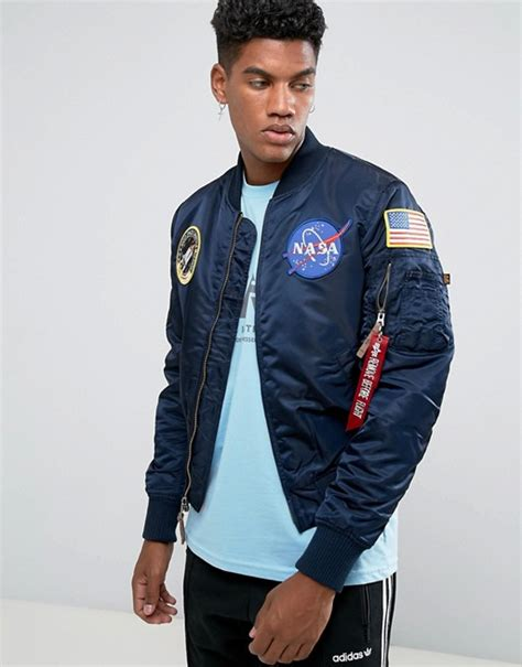 Nasa Bomber Navy alpha industries alpha industries ma 1 vf nasa insulated