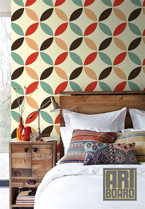 design house decor etsy items similar to retro circles pattern self adhesive diy