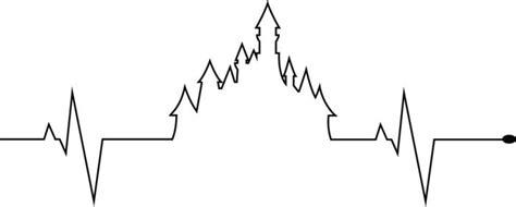 castle of disney world line drawing tattoo inspiration electrocardiogram explore electrocardiogram on deviantart