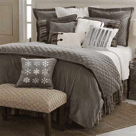 home decor bedding rustic bedding king size silver mountain bed set black