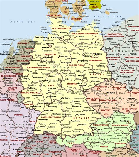 cities in germany cities of germany on detailed map detailed map of cities