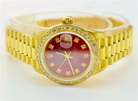 watches for jewelry rolex datejust 18k yellow gold custom