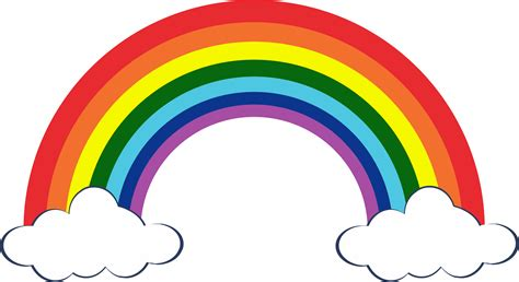 Clipart Arcobaleno - rainbow png images 7 colors of the sky png only