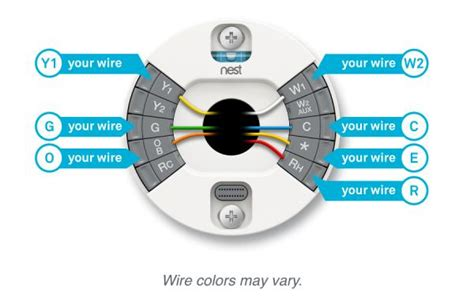 nest thermostat wiring diagram wire with an orange get