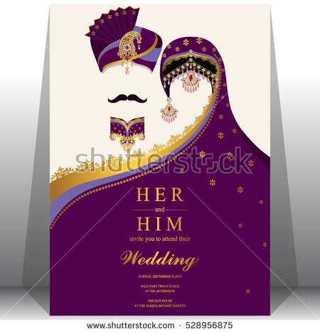 Wedding Card Template Stock Images Royalty Free Images Vectors Shutterstock Save The Date Indian Wedding Templates Free