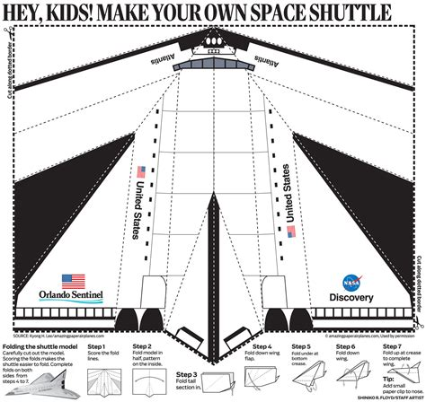 How To Make A Spaceship Out Of Paper - space shuttle cut out template pics about space