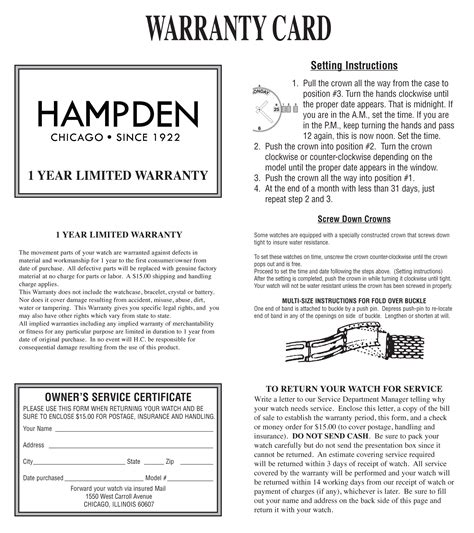 warrant card template warranty about us