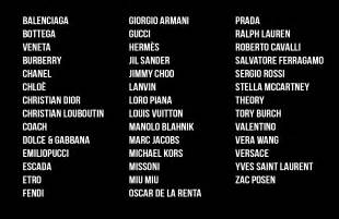 List Of Designers The Designer S Rack 187 Labels Designers
