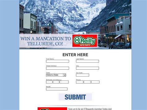 O Reilly Sweepstakes - o reilly auto parts ski vacation sweepstakes sweepstakes fanatics