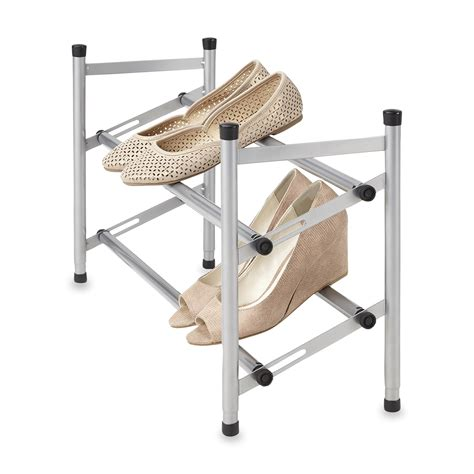 Clothes Rack Kmart by Essential Home 2 Tier Metal Shoe Rack