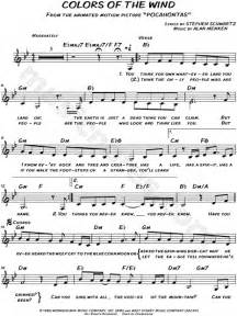colors of the wind violin sheet quot colors of the wind quot from pocahontas sheet