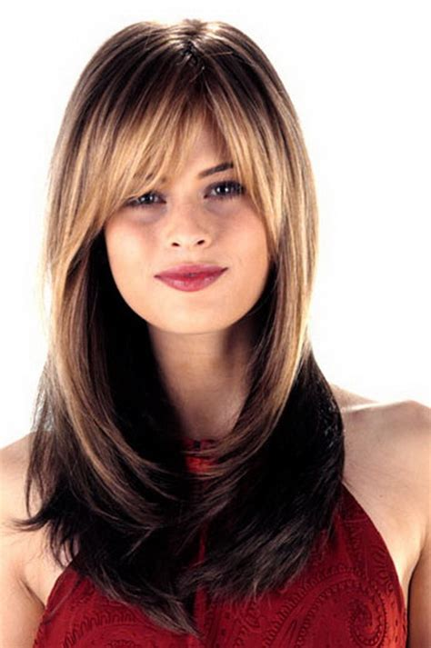 hairstyles with bangs for round faces 2013 long hair layered haircuts for round faces