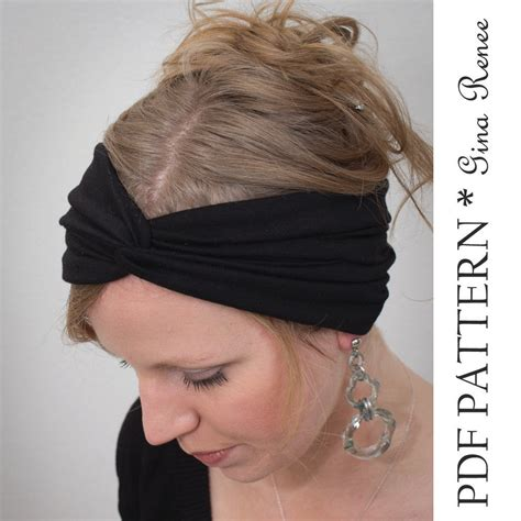 sewing pattern headband twist headband sewing pattern ear warmer pattern pdf sewing