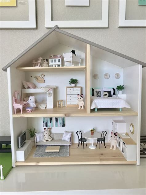 ikea wooden dolls house elena s ikea flisat dollhouse is fully furnished ikeadollhouse ikeahack dollhousemakeover
