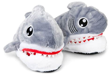 shark slippers shark plush sharks slippers ebay