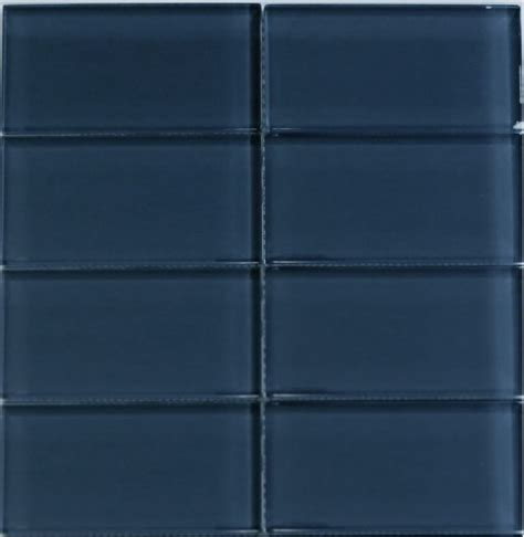 glass subway tile 3x6 cobalt blue tile perfect for any
