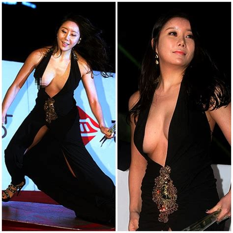 female wardrobe exposures ha na kyung exposes herself