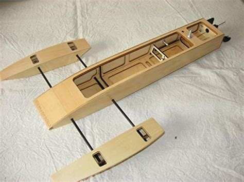 how to make a trident out of wood 19 5 inch rc ep wooden mini trident kit rc boat outrigger