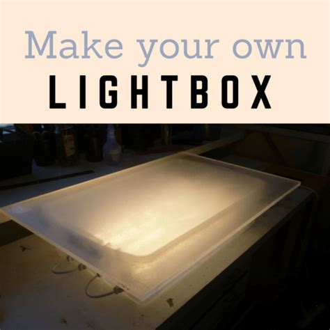 Make Your Own Watercolor Paper - how to make your own lightbox for tracing on watercolor