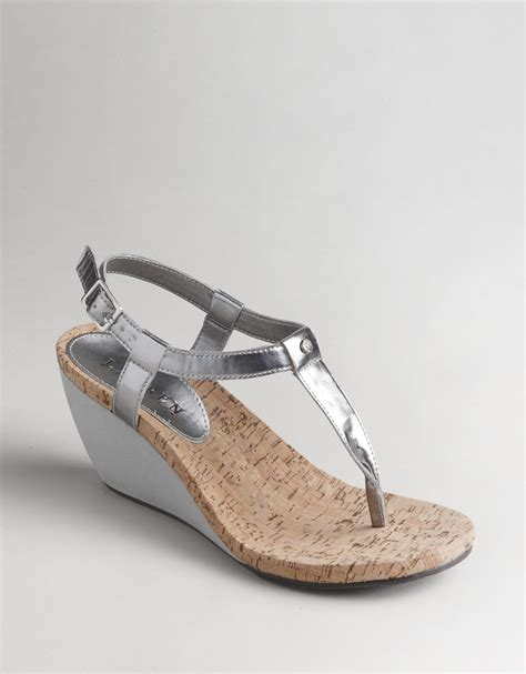 ralph wedge sandals by ralph rosalia wedge sandals in silver