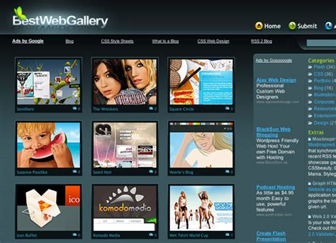 best web photo gallery design portfolio