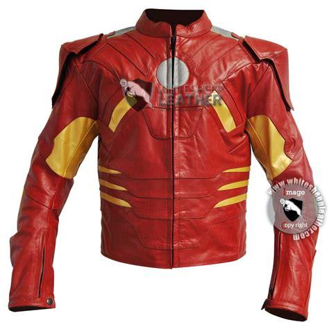 avengers iron man mark costume leather jacket