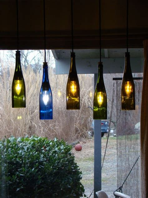 19 inexpensive creative diy wine bottle lighting ideas
