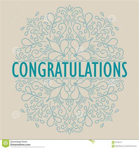 congratulations card template vector vintage congratulations card stock vector image