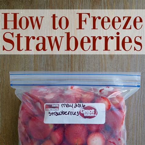 how to freeze strawberries graceful little honey bee